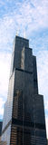 Schroeit Willis Tower in Chicago royalty-vrije stock fotografie