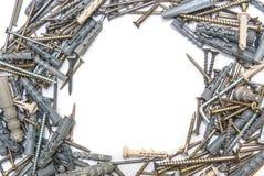 Schroeven met Plastic geïsoleerde Pennen Stock Afbeelding