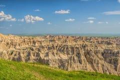 Schroffe Aussicht von South- Dakotaödländern Stockbild