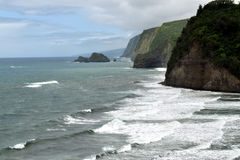 Schroffe Küste an Polulu-Strand, große Insel, Hawaii Stockfoto