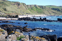 Schroffe Küste von Machrihanish. lizenzfreie stockfotografie