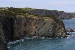 Schroffe Neufundland-Küstenlinie lizenzfreie stockfotos