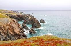 Schroffe Seeküsten-Landschaft Kerker-provinzieller Park Neufundland, Kanada lizenzfreies stockbild