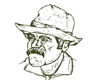 Schroffer Cowboy Stockfotos