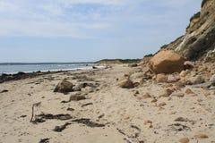 Schroffer Küstenstrand Stockbilder