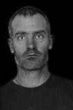 Schroffes Mann-Porträt Stockfoto