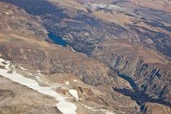 Schroffes Wyoming von der Luft stockfoto