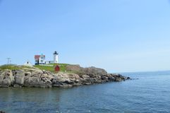 schronienia latarni morskiej Maine nubble York Obrazy Stock