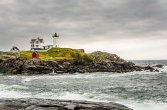 schronienia latarni morskiej Maine nubble York Zdjęcia Stock