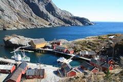 schronienia nusfjord zdjęcie stock