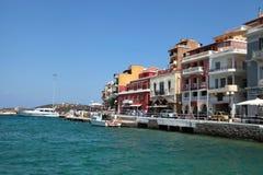 Schronienie Agios Nikolaos, Crete, Grecja Obrazy Stock