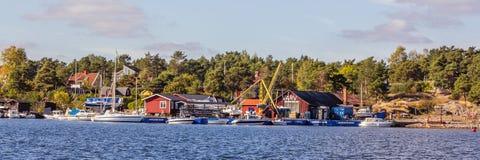 Schronienie Arkosunds w Szwecja zdjęcie royalty free