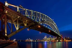 schronienie bridżowa noc Sydney Fotografia Stock