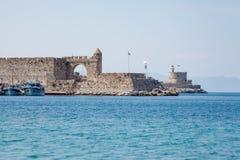 Schronienie i zabytki w Rhodes obraz royalty free