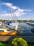 schronienie jachtów Zdjęcie Royalty Free