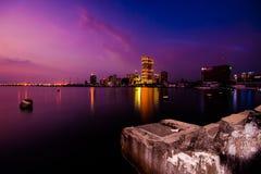 Schronienie kwadrat, Manila zatoka, Filipiny fotografia royalty free