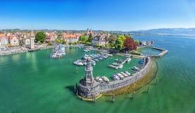 Schronienie na Jeziornym Constance w Lindau, Niemcy Fotografia Stock