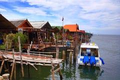 Schronienie łodzie Ko Lanta, Tajlandia Zdjęcia Stock