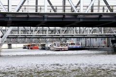 Schronienie pływa statkiem Hamburg Fotografia Royalty Free