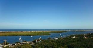 Schronienie panoramy Podpalany Powietrzny widok w oceanie Zdjęcie Royalty Free