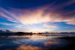Schronienie przed wschodem słońca w ranku Obrazy Royalty Free