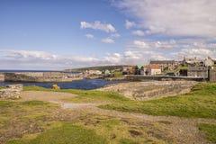 Schronienie przy Portsoy na mureny Firth zdjęcia royalty free