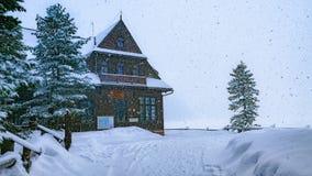 Schronisko Morskie Oko, High Tatras, Poland. Winter Schronisko Morskie Oko, High Tatras, Poland Stock Photos