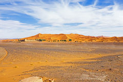 Schronisko w erga Chebbi pustyni od Maroko Afryka Obraz Stock