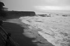 Schroniskowa zatoczka, Kalifornia dzień burzliwe obraz stock