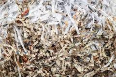 Schrott-Papier von der Papierschneidemaschine Stockfotografie