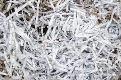 Schrott-Papier von der Papierschneidemaschine Lizenzfreie Stockbilder