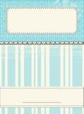 Schrott-Schablone für Grußkarte lizenzfreie abbildung