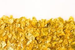 Schrotte der Goldfolie Lizenzfreies Stockbild