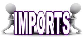 Verringern der Importe Stockbild