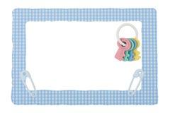 Schätzchen-Blau-Check-Rand Stockfoto