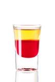 Schußcocktailansammlung: Roter Tequila Lizenzfreies Stockbild
