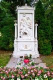 Schubert's grave Stock Images