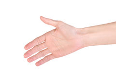 Schuddende hand Royalty-vrije Stock Afbeelding