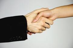 Schuddende handen Stock Foto