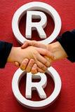 Schuddende handen Royalty-vrije Stock Afbeelding