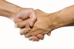 Schuddende handen Stock Fotografie