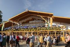 Schuetzenfestzelt in Oktoberfest in München, Duitsland, 2016 Stock Fotografie