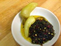 Schug - salsa piccante del Medio-Oriente Fotografie Stock Libere da Diritti