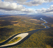Schugor河,北乌拉尔 免版税库存图片