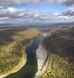 Schugor rzeka, Północni Urals Zdjęcia Stock