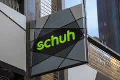Schuh鞋类零售商在英国 免版税库存图片