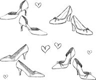 Schuh-Abbildung Stockfoto