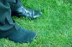 Schuh auf dem anderen Fuß lizenzfreies stockfoto