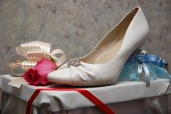 Schuh der Braut Lizenzfreies Stockfoto