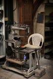 Schuh, der Maschine, Tripoli, der Libanon herstellt Stockfoto